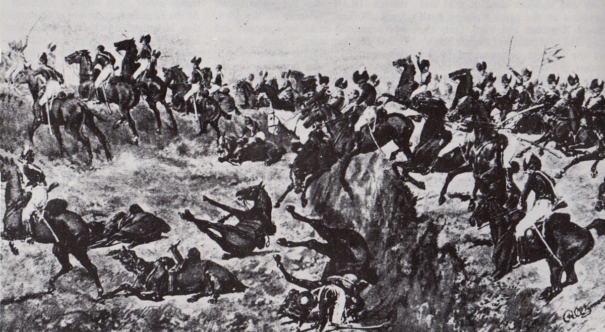 23rd Light Dragoons encounter the ditch at the Battle of Talavera on 28th July 1809 in the Peninsular War