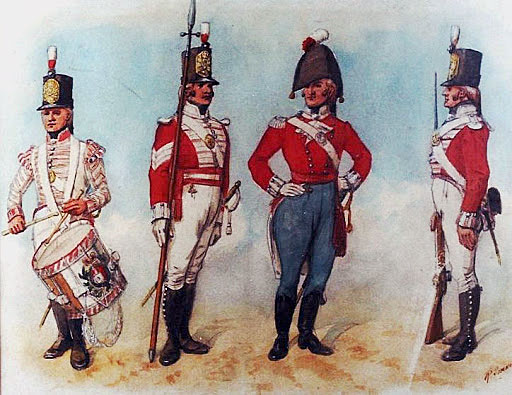 British 47th Regiment: Battle of Barossa or Chiclana fought on 5th March 1811 in the Peninsular War: picture by Richard Simkin