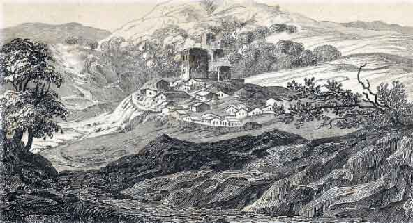 Battle of Sabugal on 3rd April 1811 in the Peninsular War: sketch made at the scene