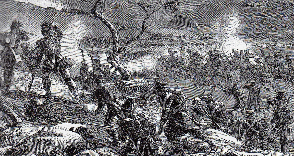 Battle of Redinha or Pombal fought on 12th March 1811 in the Peninsular War