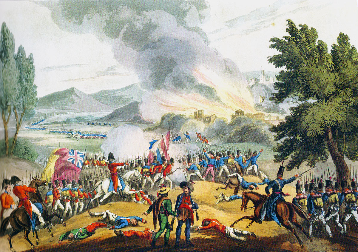 Battle of Redinha or Pombal fought on 12th March 1811 in the Peninsular War: picture by J.J. Jenkins