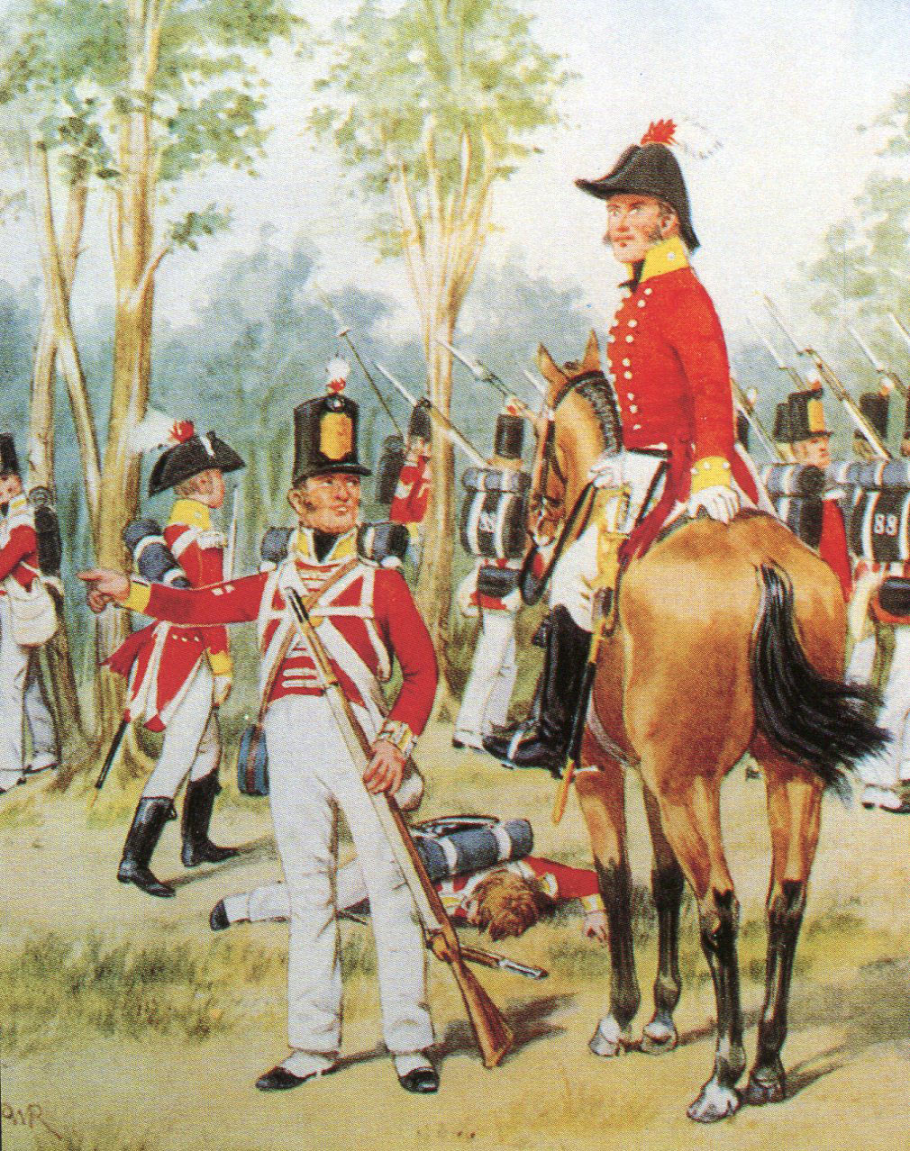 Colonel Wallace and the 88th Regiment at the Battle of Busaco on 27th September 1810 in the Peninsular War