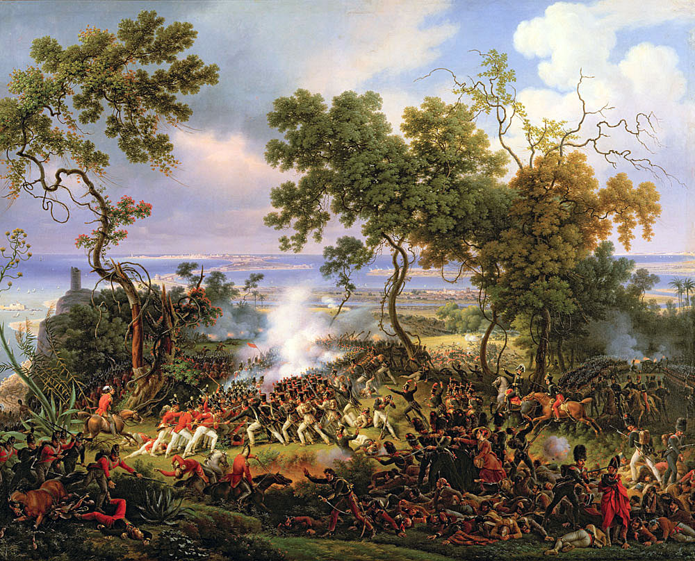 Battle of Barossa or Chiclana fought on 5th March 1811 in the Peninsular War: picture by Baron Lejeune
