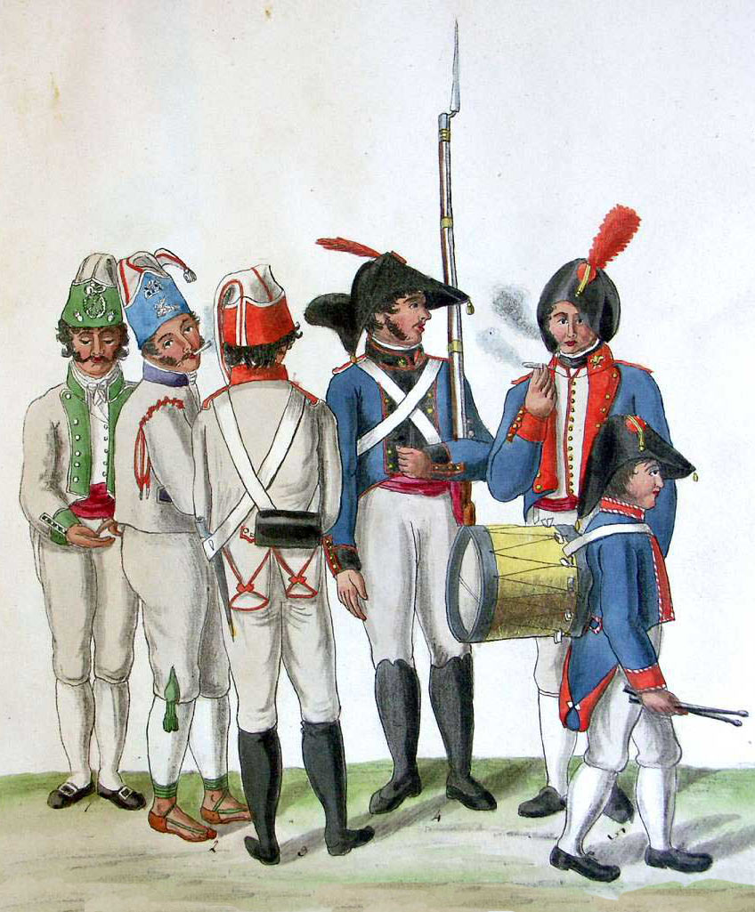 Spanish troops: Battle of Barossa or Chiclana fought on 5th March 1811 in the Peninsular War: picture by Suhl