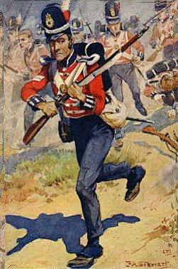 Coldstream Guards at the Battle of Barossa or Chiclana fought on 5th March 1811 in the Peninsular War