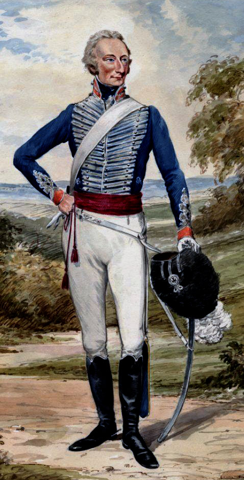 Officer of the British 14th Light Dragoons: Battle of Fuentes de Oñoro 3rd to 5th May 1811 in the Peninsular War