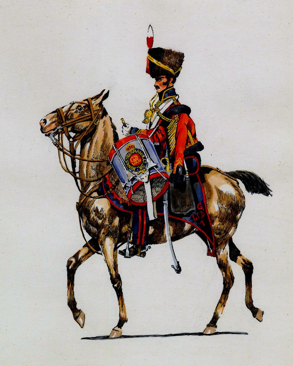 Drummer of the 1st Hussars, King's German Legion: Battle of El Bodon on 25th September 1811 in the Peninsular War
