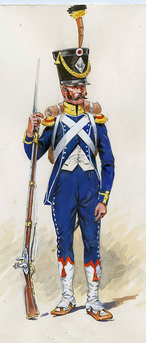 French Light Infantryman: Battle of Albuera on 16th May 1811 in the Peninsular War