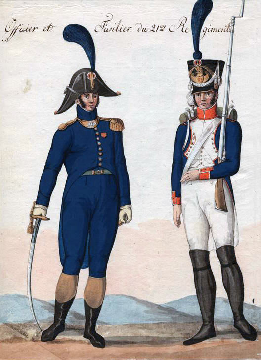 French Officer and Fusilier of the Line: Battle of Fuentes de Oñoro 3rd to 5th May 1811 in the Peninsular War