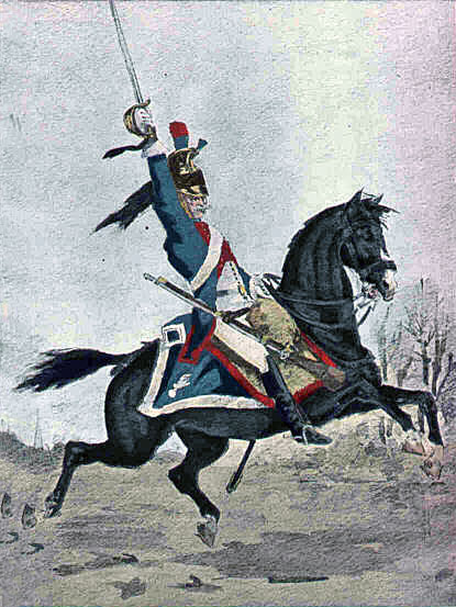 French Dragoon: Battle of Albuera on 16th May 1811 in the Peninsular War
