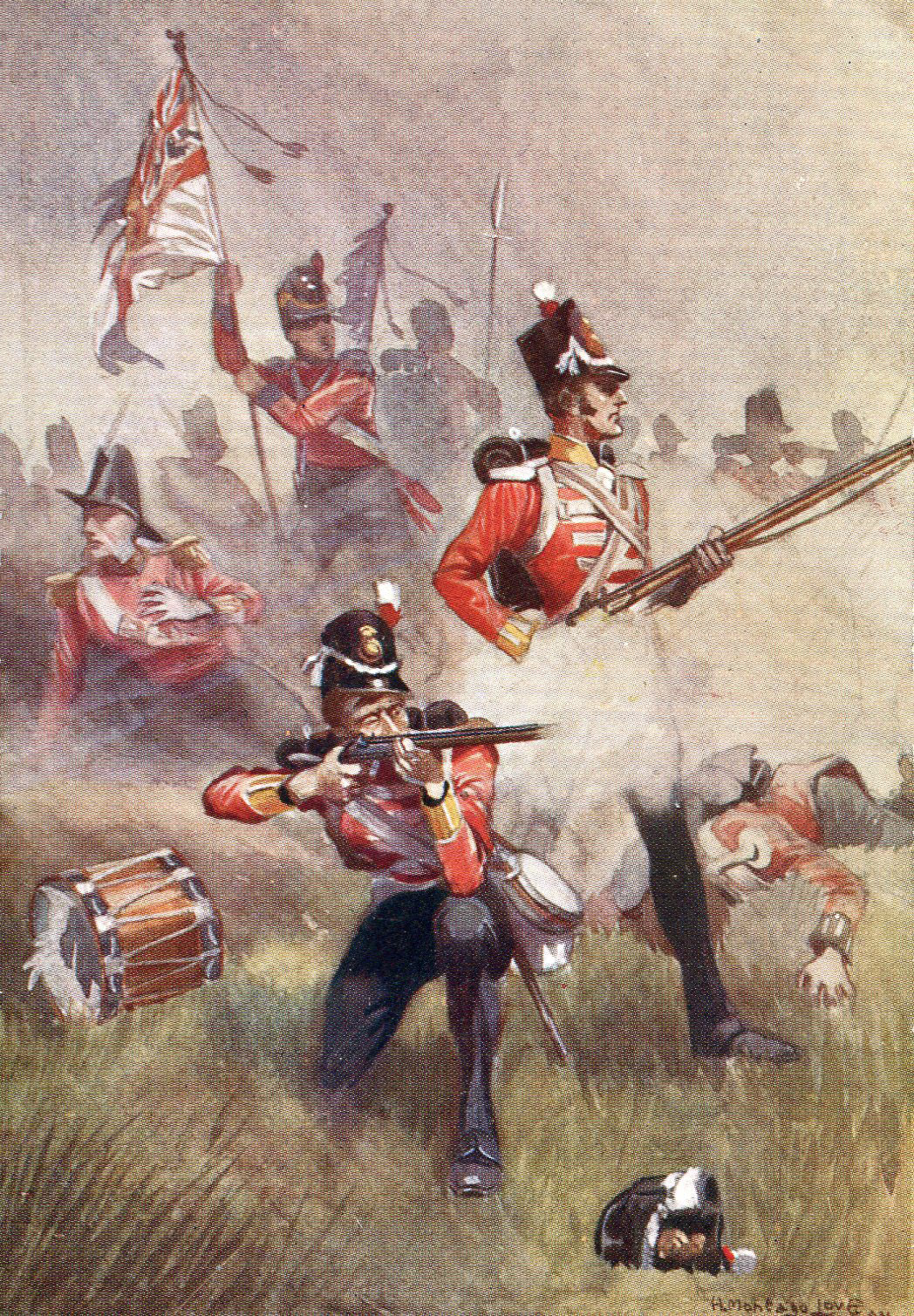 The 3rd Buffs at the Battle of Albuera on 16th May 1811 in the Peninsular War