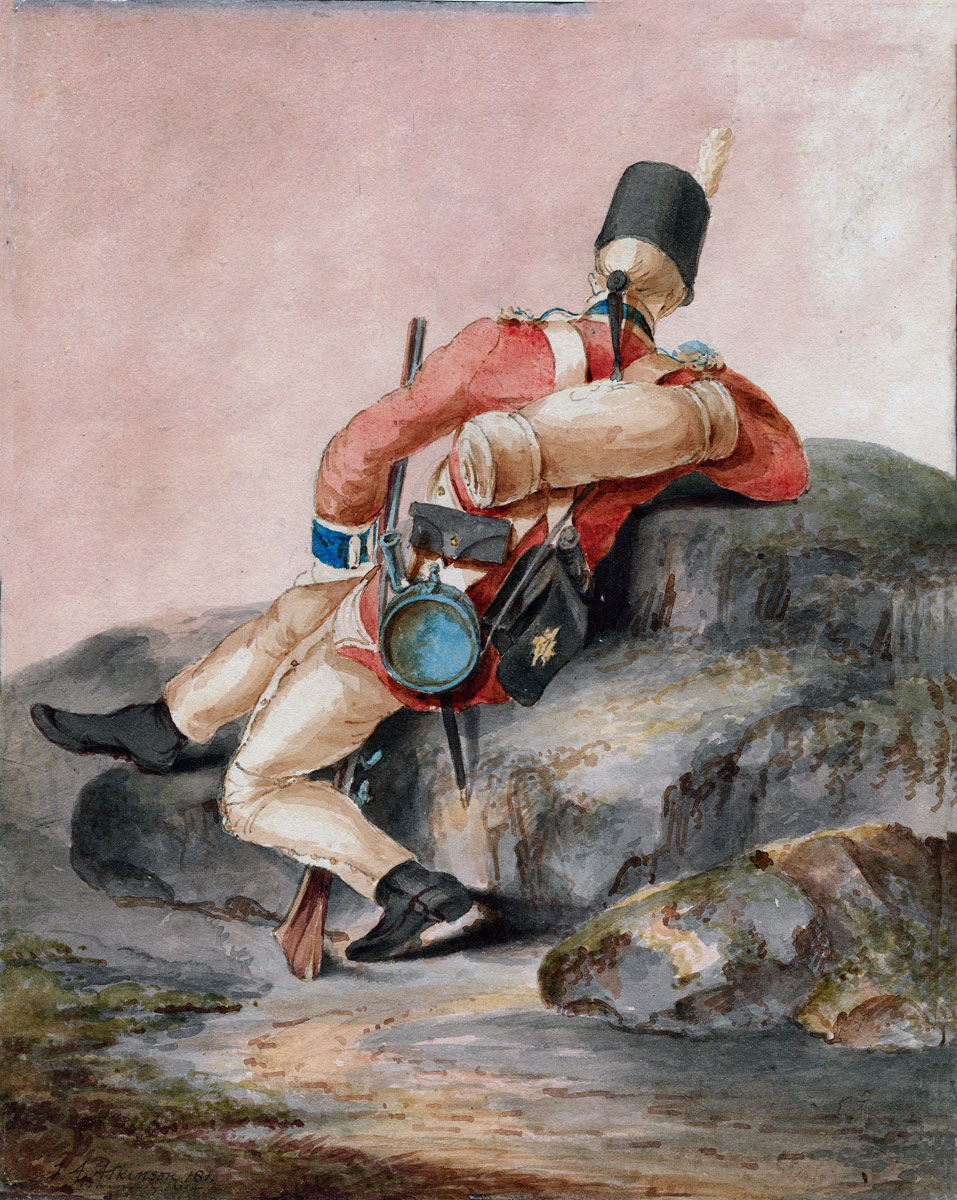 British Third Foot Guards: Battle of Barossa or Chiclana fought on 5th March 1811 in the Peninsular War