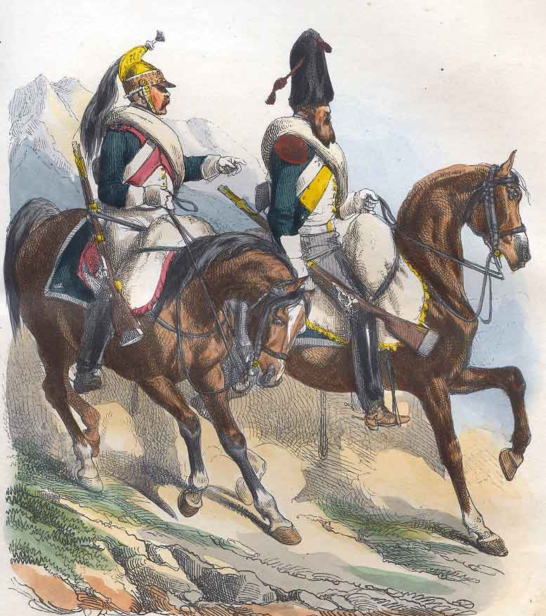 French Dragoons: Battle of Usagre on 25th May 1811 in the Peninsular War: picture by Belangé
