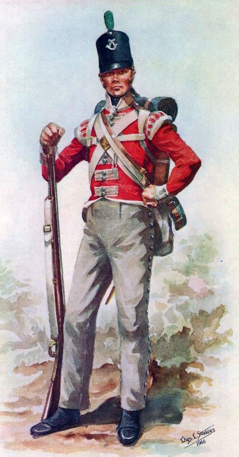 British 43rd Light Infantry: Battle of Fuentes de Oñoro 3rd -5th May 1811 in the Peninsular War