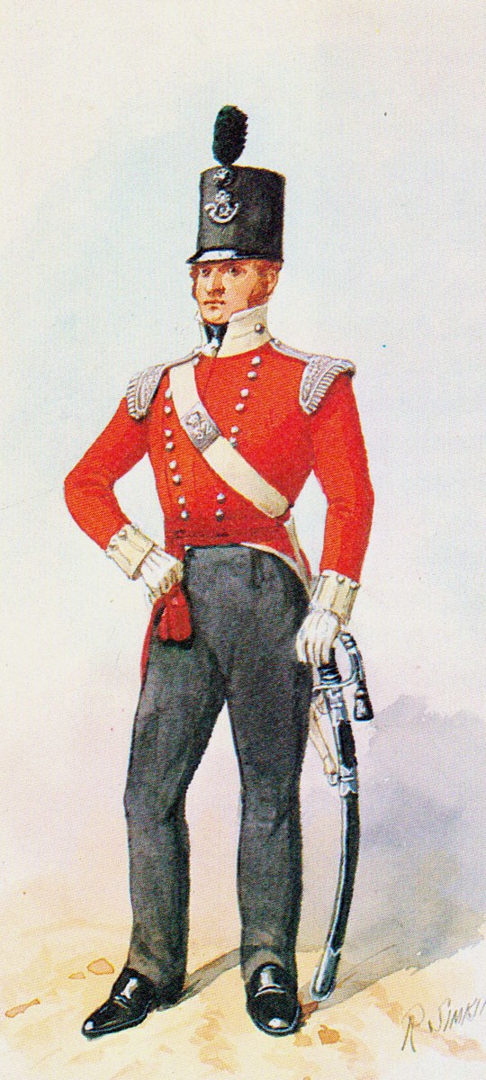 Officer 52nd Light Infantry: Battle of the River Coa on 24th July 1810 in the Peninsular War: picture by Richard Simkin