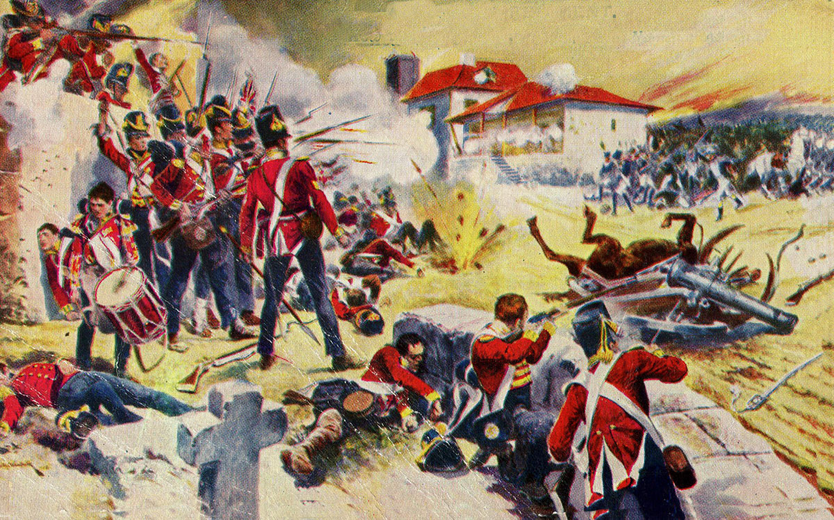 57th 'Die Hards' at the Battle of Albuera on 16th May 1811 in the Peninsular War: picture by Richard Caton Woodville