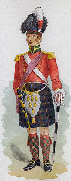 Officer 79th Cameron Highlanders: Battle of Fuentes de Oñoro 3rd to 5th May 1811 in the Peninsular War