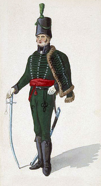 Officer of British 95th Rifles: Battle of Sabugal on 3rd April 1811 in the Peninsular War