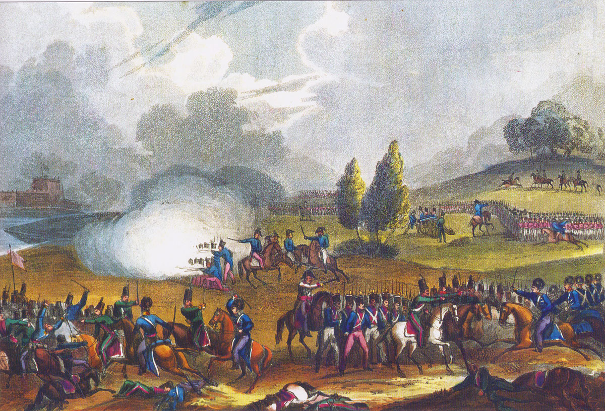 Battle of Campo Maior on 25th March 1811 in the Peninsular War: picture by J.J. Jenkins