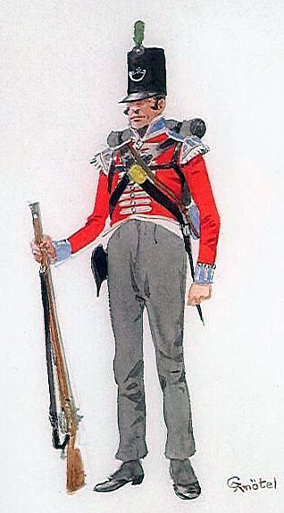 Chasseur Britannique: Battle of Fuentes de Oñoro 3rd -5th May 1811 in the Peninsular War: picture by Richard Knötel