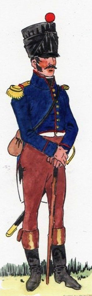 Officer of the French 34th Regiment of the Line: Battle of Arroyo Molinos on 28th October 1811 in the Peninsular War