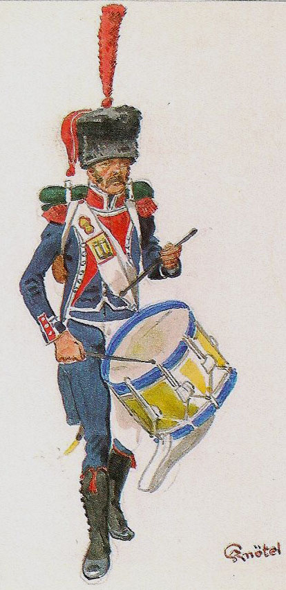 French Light Infantry Drummer: Storming of Ciudad Rodrigo on 19th January 1812 in the Peninsular War: picture by Knotel