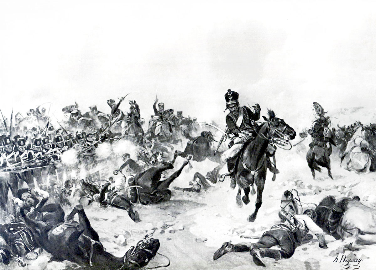 Battle of Fuentes de Oñoro 3rd to 5th May 1811 in the Peninsular War: picture by Henri Dupray