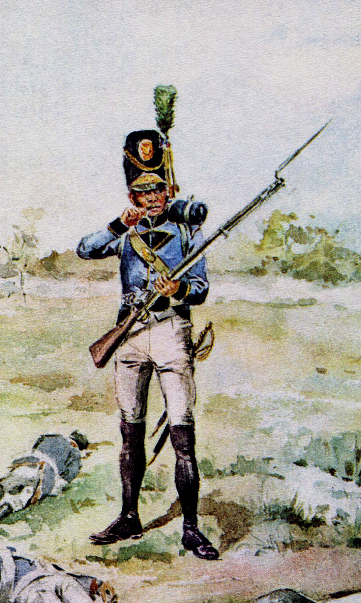Portuguese Lusitanian Legion: Battle of Albuera on 16th May 1811 in the Peninsular War