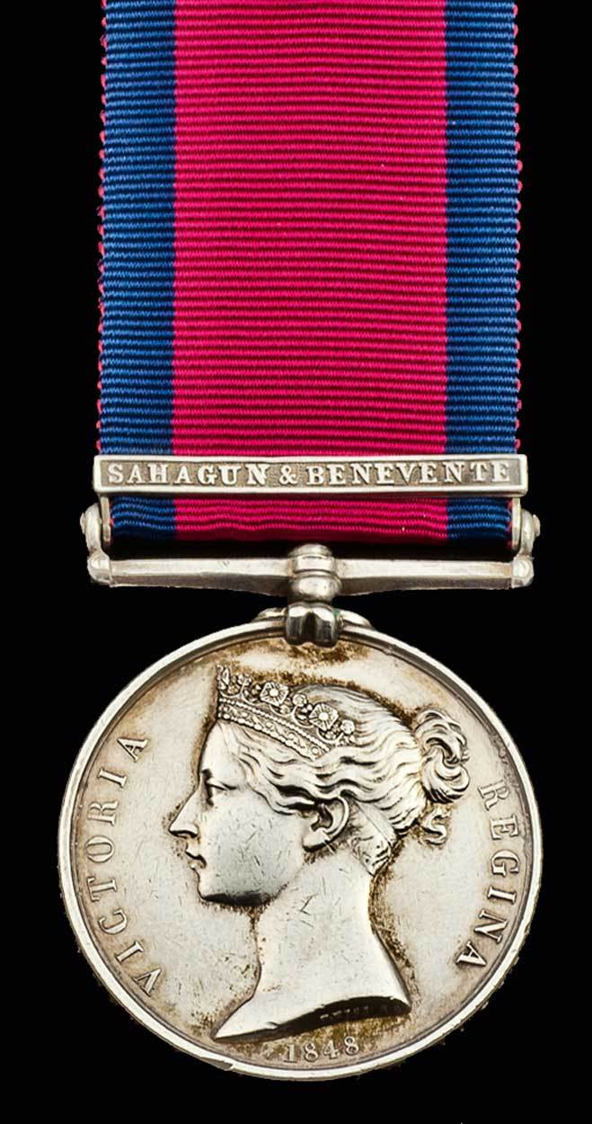 Military General Service Medal with clasp for Battles of Sahagun and Benavente, December 1808 in the Peninsular War