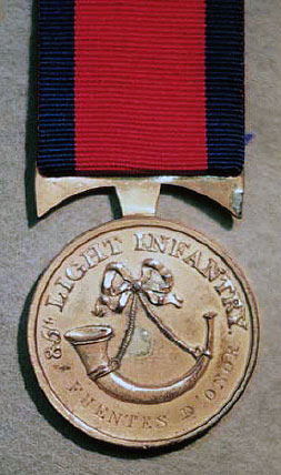 Medal awarded to Major A. McIntosh of the 85th Light Infantry for gallantry at the Battle of Fuentes de Oñoro 3rd to 5th May 1811 in the Peninsular War