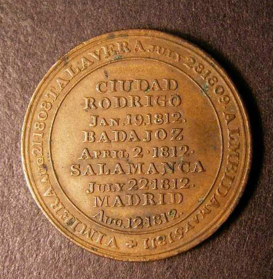 Medal commemorating the Storming of Ciudad Rodrigo on 19th January 1812 and other battles in the Peninsular War