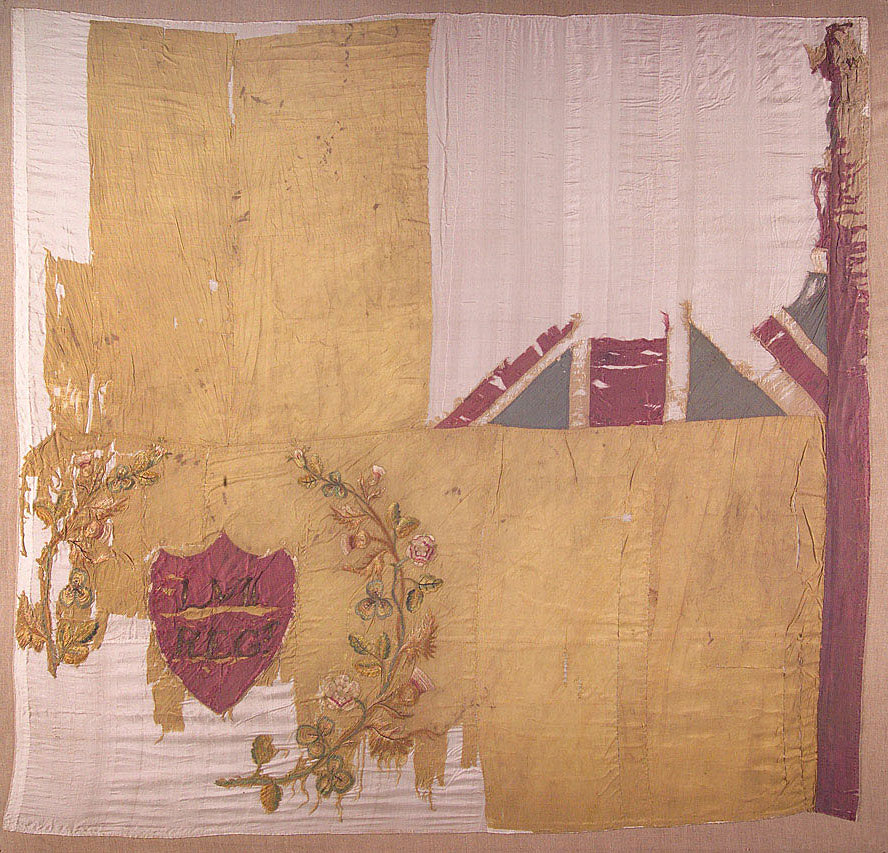 Regimental Colour carried by the 57th Regiment at the Battle of Albuera on 16th May 1811 in the Peninsular War