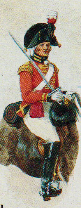 British 1st Royal Dragoon: Battle of Fuentes de Oñoro 3rd -5th May 1811 in the Peninsular War: picture by Richard Simkin