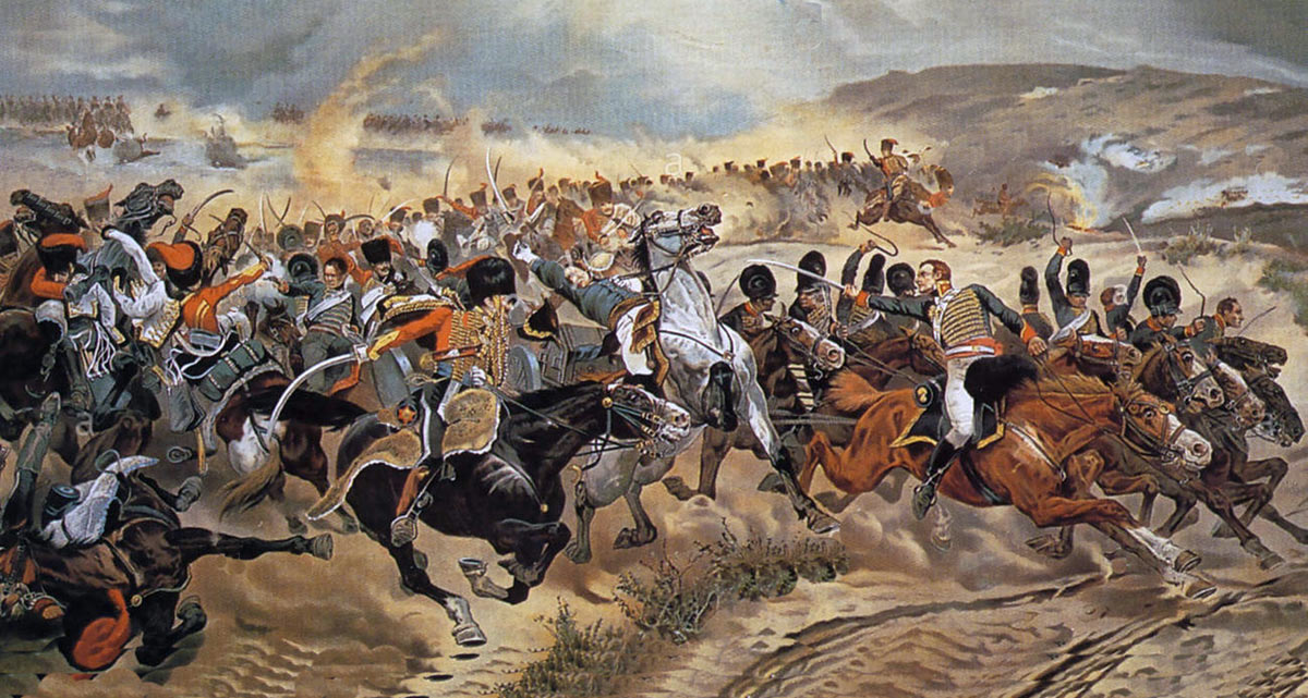Escape of Captain Norman Ramsay with the 2 guns of Bull's Troop at the Battle of Fuentes de Oñoro on 5th May 1811 in the Peninsular War