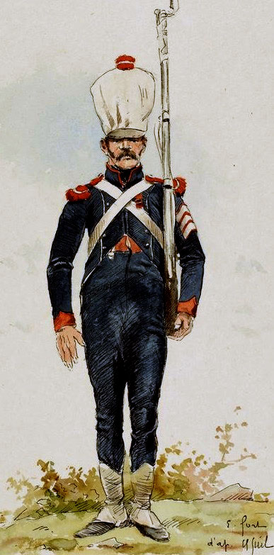 Carabinier of the French 21st Light Regiment: Battle of Campo Maior on 25th March 1811 in the Peninsular War