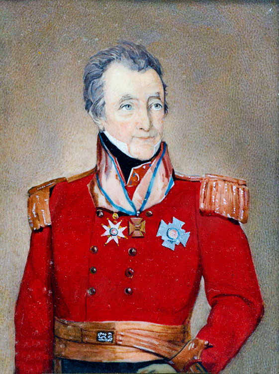 William Inglis, Colonel of the 57th  'DieHards' at the Battle of Albuera on 16th May 1811 in the Peninsular War