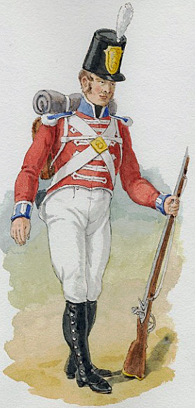 Grenadier 4th King's Own Regiment: Battle of Salamanca on 22nd July 1812 during the Peninsular War, also known as the Battle of Los Arapiles or Les Arapiles