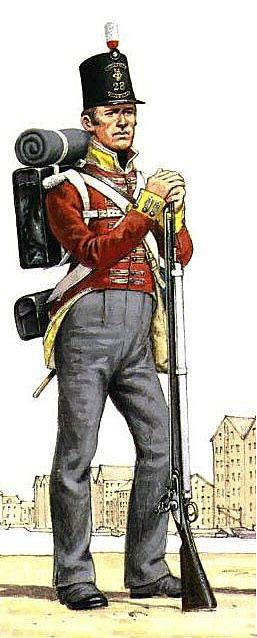 British 28th Regiment: Battle of Almaraz on 19th May 1812 in the Peninsular War