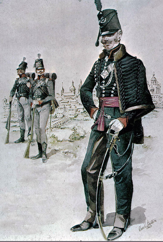 British 5th/60th Rifles: Battle of Almaraz on 19th May 1812 in the Peninsular War