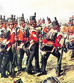 71st Highland Light Infantry: Battle of Almaraz on 19th May 1812 in the Peninsular War: picture by Richard Simkin