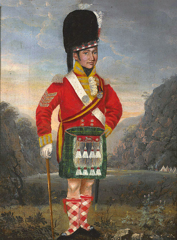 Sergeant 92nd Gordon Highlanders: Battle of the Pyrenees fought between 25th July and 2nd August 1813 in the western Pyrenees Mountains, during the Peninsular War