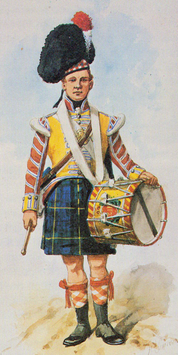 Drummer 92nd Highlanders: Battle of Vitoria on 21st June 1813 during the Peninsular War: picture by Richard Simkin