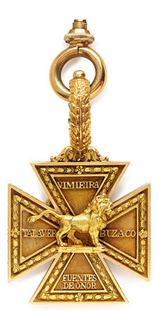 Army Gold Medal Cross for the Battle of Vimeiro on 21st August 1808 in the Peninsular War