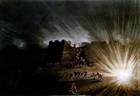 Storming of Ciudad Rodrigo on 19th January 1812 in the Peninsular War