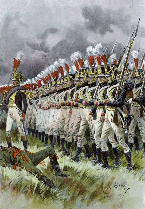 French Infantry: Battle of Vitoria on 21st June 1813 during the Peninsular War