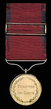 Gold Medal awarded to Lieutenant Colonel Clement Archer 16th Light Dragoons for the Battle of Fuentes de Oñoro on 5th May 1811 in the Peninsular War