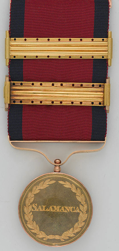 Army Gold Medal for the Battle of Salamanca on 22nd July 1812 during the Peninsular War