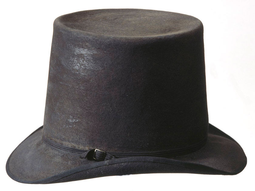 Top Hat worn by Sir Thomas Picton at the Battle of Vitoria on 21st June 1813 during the Peninsular War