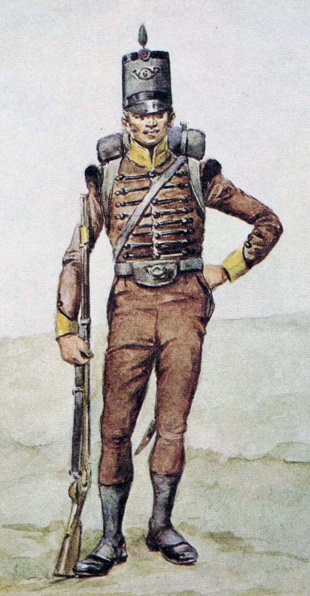 Portuguese 6th Caçadores: Battle of Almaraz on 19th May 1812 in the Peninsular War