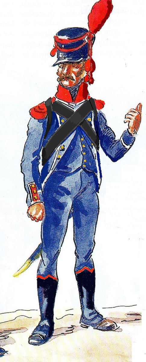 Carabinier of French 6th Light Regiment: Battle of Almaraz on 19th May 1812 in the Peninsular War